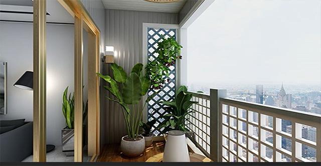 湖南防腐木阳台案例