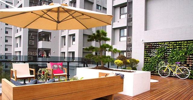 湖南防腐木阳台庭院